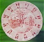 1971 Red Calendar Plate Meakin Zodiac