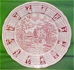 1972 Red Calendar Plate Meakin Zodiac