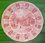 1974 Red Calendar Plate Meakin Zodiac