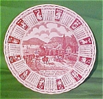 1990 Red Calendar Plate Meakin Zodiac Norma Sherman