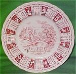 1961 Red Calendar Plate Meakin Zodiac