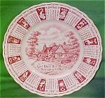 1962 Red Calendar Plate Meakin Zodiac
