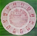 1967 Red Calendar Plate Meakin Zodiac