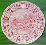 1975 Red Calendar Plate Meakin Zodiac