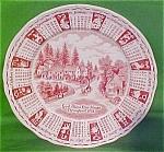 1978 Red Calendar Plate Meakin Zodiac