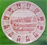 1985 Red Calendar Plate Meakin Zodiac