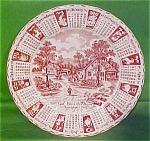 1991 Red Calendar Plate Meakin Zodiac