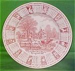 1983 Red Calendar Plate Meakin Zodiac