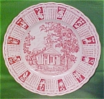 1965 Red Calendar Plate Meakin Zodiac