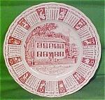 1964 Red Calendar Plate Meakin Zodiac