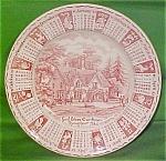 1982 Red Calendar Plate Meakin Zodiac