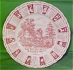 1963 Red Calendar Plate Meakin Zodiac