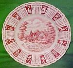 1962 Red Calendar Plate Meakin Zodiac Crazing