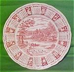 1977 Red Calendar Plate Meakin Zodiac