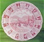 1979 Red Calendar Plate Meakin Zodiac
