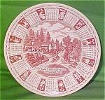 1989 Red Calendar Plate Meakin Zodiac Norma Sherman