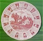 1987 Red Calendar Plate Meakin Zodiac Round