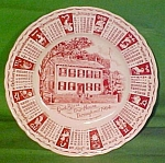 1964 Red Calendar Plate Meakin Zodiac Light Crazing