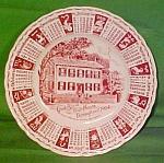 1964 Red Calendar Plate Meakin Zodiac Light Crazing