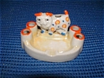 Vintage Japanese Dog Ashtray