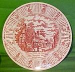 1986 Red Calendar Plate Meakin Zodiac Round
