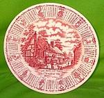 1987 Red Calendar Plate Meakin Zodiac Large