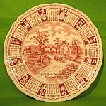 1968 Red Calendar Plate Meakin Zodiac