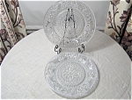 Sandwich Crystal Luncheon Plate By Indiana