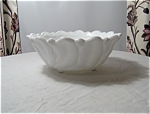Wild Rose Milk Glass Large Vegetable Bowl