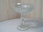 Diamond Point Clear Compote