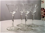Glenmore Etched Crystal Stemed Cocktail Glass Set (4)