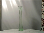 Depression Glass Green Pulled Vase