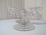 Crystal Double Candleholders By Tiffin