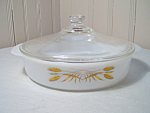 Vintage Wheat Fire King Casserole By Anchor Hocking