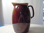 Hull Brown Drip Large Handled Pitcher