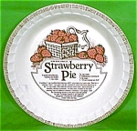 Strawberry Pie Baker 11 Royal China 1983 Plate Jeanette