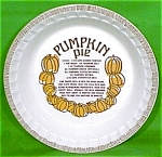 Pumpkin Pie Baker 11inch Royal China Plate Jeanette