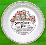 Strawberry Pie Baker 11inch Royal China Plate Jeanette