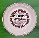 Pecan Pie Baker 11inch Royal China Plate Jeanette