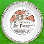 Strawberry Pie Baker 10 Inch Royal China Plate Jeanette