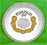 Pumpkin Pie Baker 10 Inch Royal China Plate Jeanette