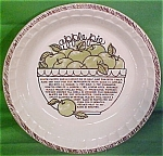 Apple Pie Baker Lateral Trim Lines Royal China Plate