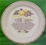 Lemon Meringue Pie Baker Lateral Trim Royal China Plate