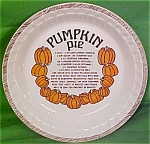 Pumpkin Pie Baker Lateral Trim Lines Royal China Plate