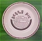 10 Inch Berry Pie Baker Gourmet Plate Jeanette