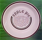 10 Inch Apple Pie Baker Gourmet Ringed Plate Jeanette