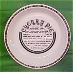 10 Inch Cherry Pie Baker Gourmet Plate Jeanette