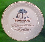 Blueberry Pie Microwave Deep Dish Baker Plate Jeanette