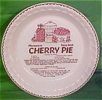 Cherry Pie Microwave Deep Dish Baker Plate Jeanette