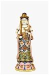 Old Japanese Kutani Imari Figurine Quan Buddha Sword